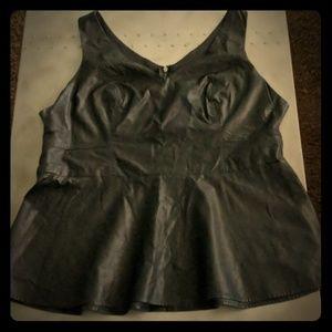 Torrid faux leather black top